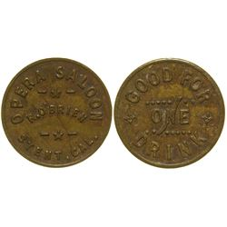 Opera Saloon Token Stent California