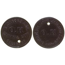 A. Jacobs & Co. Token Central City Colorado