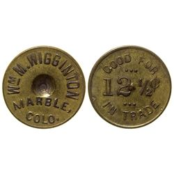Wm. M. Wigginton Token Marble Colorado