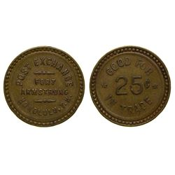Post exchange, Fort Armstrong Token Honolulu Hawaii