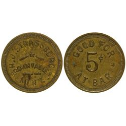 H. J. Strassburg Token Brown Valley Minnesota