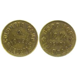 Columbia Club Token Pioneer Nevada
