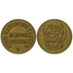 Fish Hatchery Tavern Token Mehama Oregon
