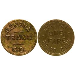 Geneva Trans. Co. Token Provo City Utah