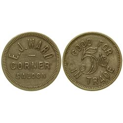 Corner Saloon Token Prosser Washington