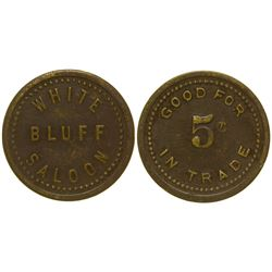 White Bluff Saloon Token White Bluff Washington