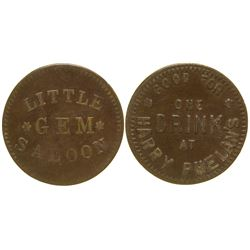 Little Gem Saloon Token Rawlins Wyoming