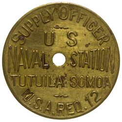 Naval Supply Officer Token Samoa