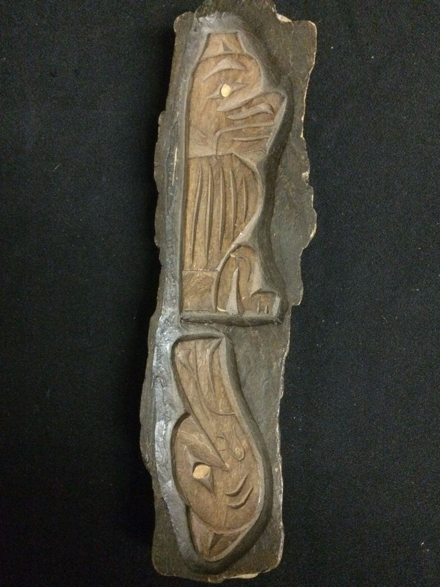 Signed native hand wood carving by michel bc canada