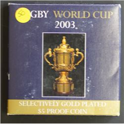 2003 Rugby World Cup ., proof in box of issue
