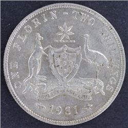 1931 Florin , Nearly Uncirculated