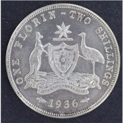 1936 Florin Prooflike Uncirculated