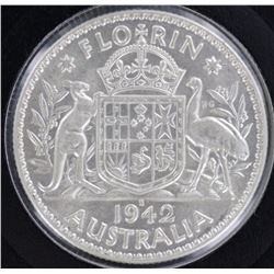 1942S Florin Choice Uncirculated