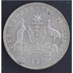 1931 Florin Sharp aUncirculated