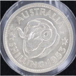 1953 Shilling Gem Uncirculated