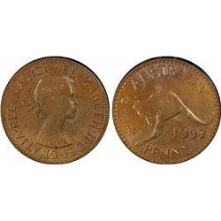 1957 P Penny PCGS MS 64 Brown
