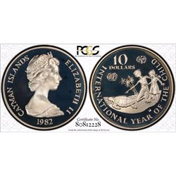 Caymen Islands $10 Year of the child PCGS PR 68