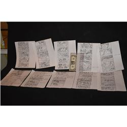 X-MEN 2 UNITED 20 PAGES OF STORY BOARDS WITH ARTWORK AND NOTES