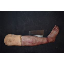 SEVERED SILICONE LEG FOR YOUR HAUNT OR INDY FILM 13