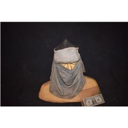 300 SCREEN USED PERSIAN WARRIOR HELMET AND HEAD GEAR BLOODY AND DISTRESSED