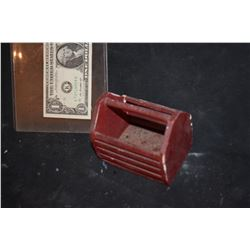 ZZ-CLEARANCE MINIATURE WOODEN BASKET BIN
