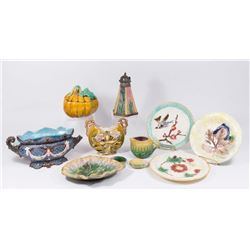 Group Lot Majolica Pieces