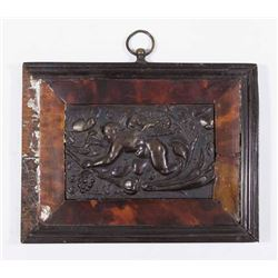 19th Century Gutta Percha Panel Depicting Putti