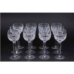 12 Waterford Lismore Pattern Balloon Wine Glasses