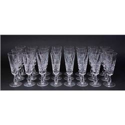 Set 24 Waterford Lismore Pattern Champagne Flutes