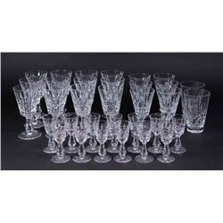 33 Waterford Lismore Pattern Wine & Other Glasses