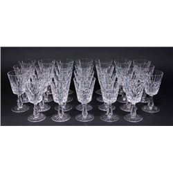 Set 26 Waterford Lismore Pattern Water Goblets