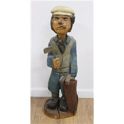 Hand-Carved Golfer
