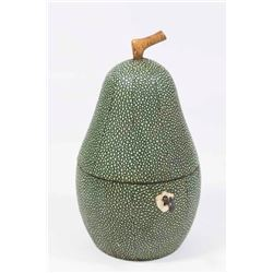 Shagreen Pear Tea Caddy
