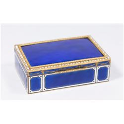 Enameled Jeweled Box