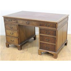 English 19th Century Mahogany Partner's Desk