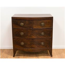 Mahogany English Bowfront Chest