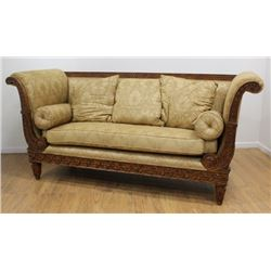 Contemporary Carved Sofa