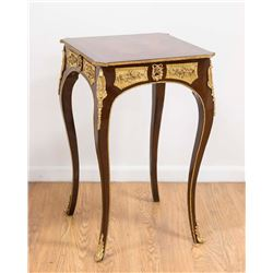 French Style Bronze Mounted Side Table
