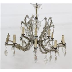 :Maria Theresa Molded Glass & Brass Chandelier
