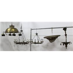:5 French Brass Chandeliers