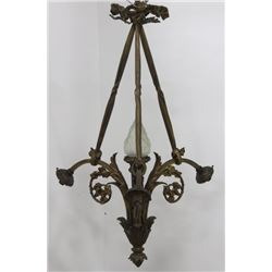Louis XVI Style Gilt Bronze 4-Light Chandelier