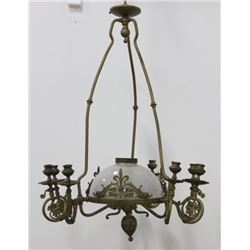 Victorian Brass 10-Light Chandelier