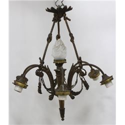 Louis XVI Style Gilt Bronze 7-Light Chandelier