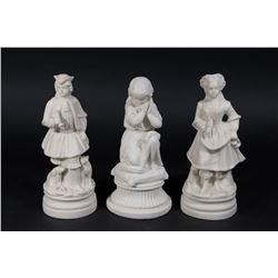 Group Lot 3 Bennington Parian Figures