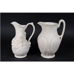 2 Bennington Parian Pitchers