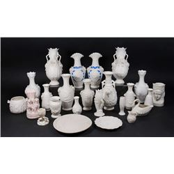 Group Lot Bennington Parian Vases & Plates