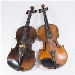 Stradivarius Violin & Unsigned Violin
