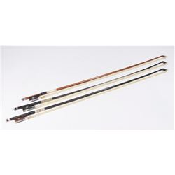 Presto Ovation & 2 Londoner Nickel Violin Bows