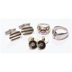 Lot of Sterling Silver Jewelry & Cufflinks