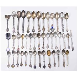 :Group of Sterling & Silver Plated Souvenir Spoons